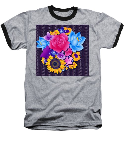 Lovely Bouquet Baseball T-Shirt