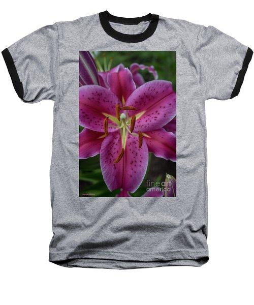 Lovely Lily Baseball T-Shirt by Roberta Byram