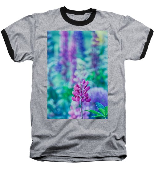 Lovely Lupine Baseball T-Shirt by Bonnie Bruno