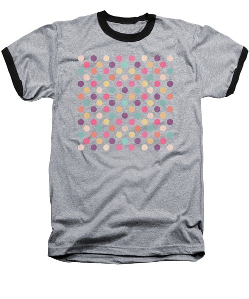 Lovely Polka Dots  Baseball T-Shirt by Amir Faysal