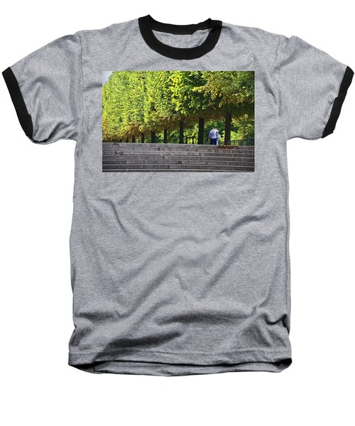 Lovers In The Tuileries Baseball T-Shirt by John Hansen