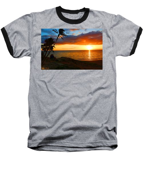 Lovers Paradise Baseball T-Shirt by Michael Rucker