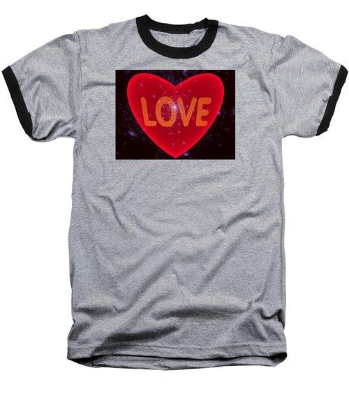 Loving Heart Baseball T-Shirt by Ernst Dittmar