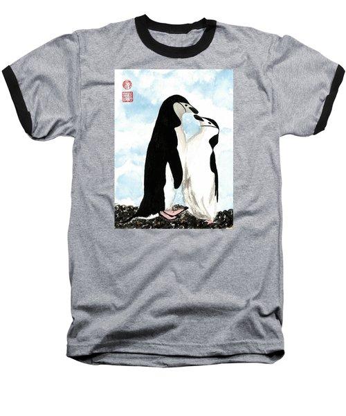 Loving Penguins Baseball T-Shirt