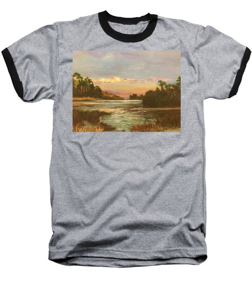Low Country Sunset Baseball T-Shirt
