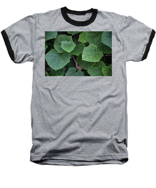 Baseball T-Shirt featuring the photograph Low Key Green Vines by Jingjits Photography
