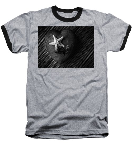 Low Key Heart And Starfish Baseball T-Shirt