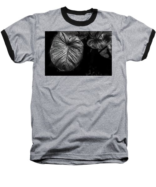 Baseball T-Shirt featuring the photograph Low Key Nature Background, Textured Plants, Leaves For Decorativ by Jingjits Photography