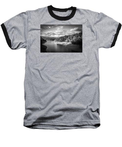 Low Sun Across The Nantahala River As The Clouds Clear Away Baseball T-Shirt by Kelly Hazel