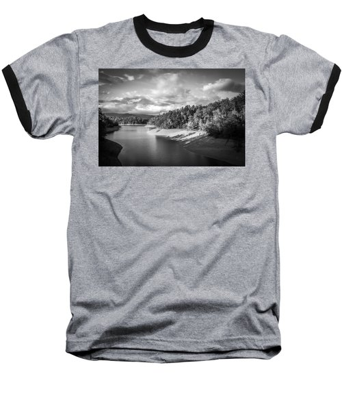 Low Sun Across The Nantahala River As The Clouds Clear Away Baseball T-Shirt