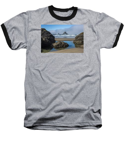 Low Tide At Ecola Baseball T-Shirt