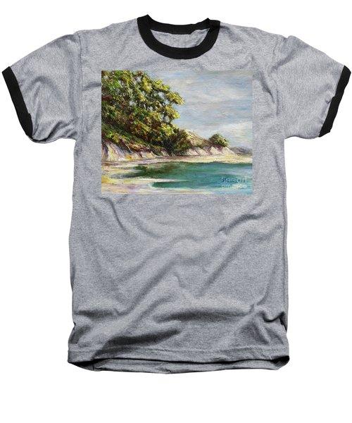 Low Tide Beach Baseball T-Shirt by Danuta Bennett