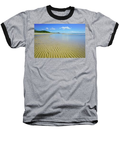 Low Tide Beach Ripples Baseball T-Shirt