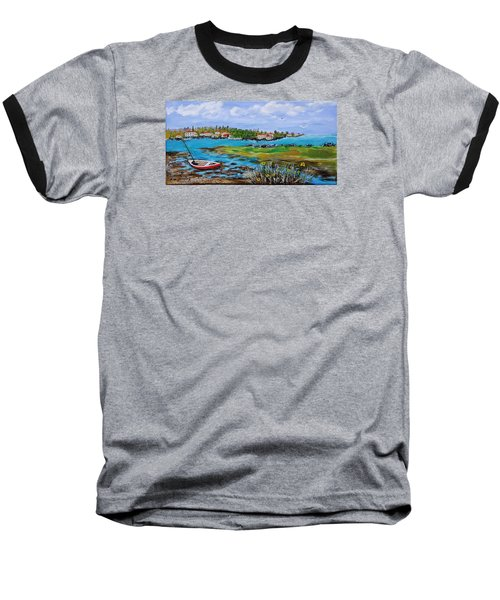 Low Tide Baseball T-Shirt by Mike Caitham