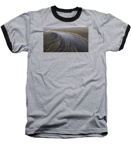 Low Tide Morning Baseball T-Shirt by Elizabeth Eldridge