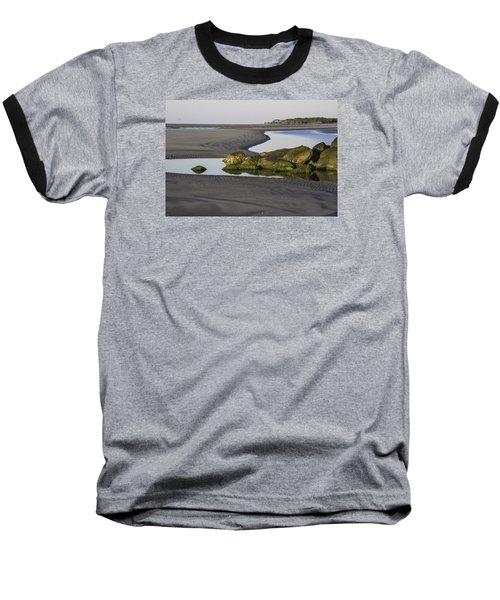 Low Tide On Tybee Island Baseball T-Shirt by Elizabeth Eldridge