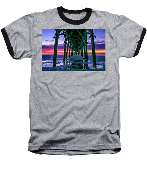 Low Tide Pier Baseball T-Shirt