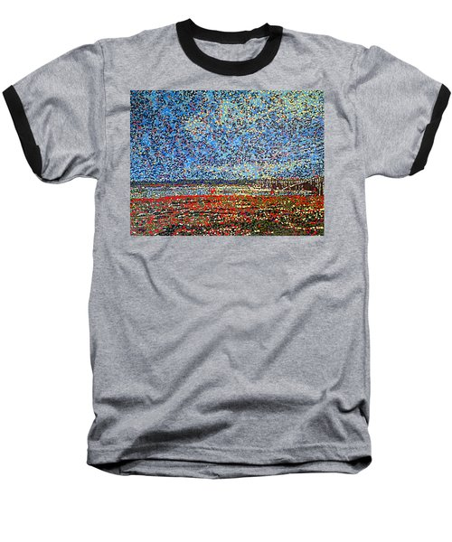 Low Tide - St. Andrews Wharf Baseball T-Shirt