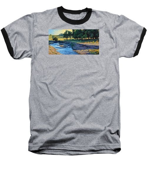 Low Water Morning Baseball T-Shirt by Bruce Morrison