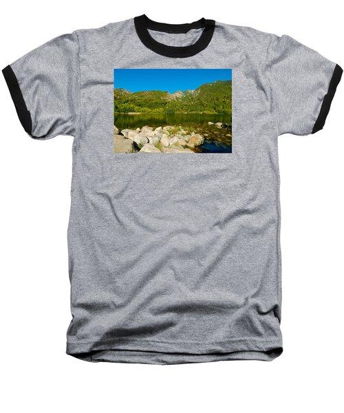 Lower Bells Canyon Reservoir Baseball T-Shirt by Dan Miller