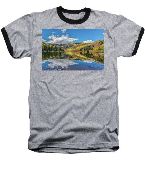 Lower Cataract Lake Aspen Baseball T-Shirt by Stephen Johnson