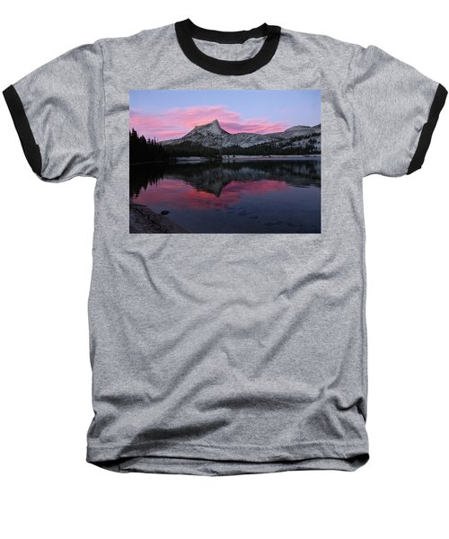 Lower Cathedral Lake Sunset Baseball T-Shirt by Amelia Racca
