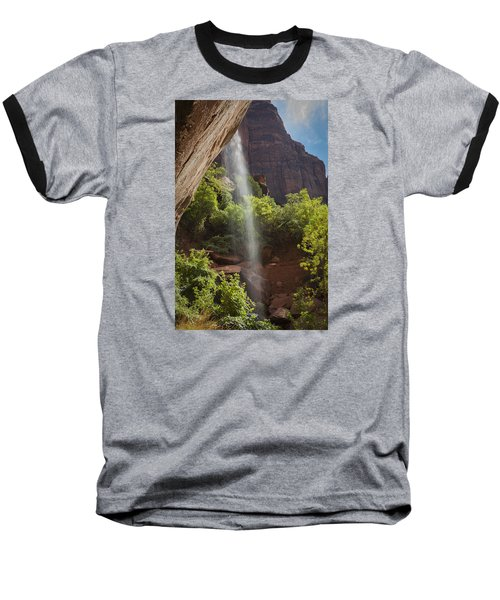 Lower Emerald Pool Falls In Zion Baseball T-Shirt