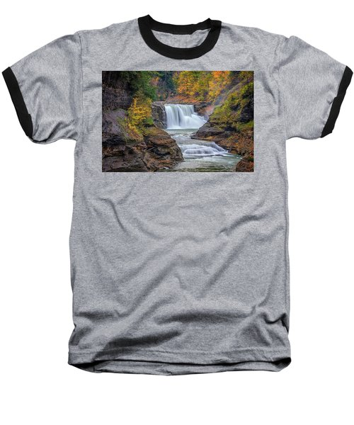 Lower Falls In Autumn Baseball T-Shirt