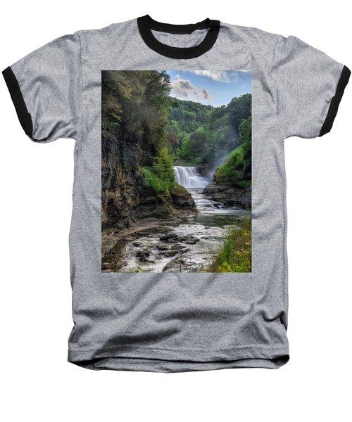 Baseball T-Shirt featuring the photograph Lower Falls - Summer by Mark Papke