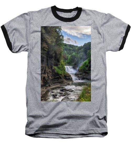 Lower Falls - Summer Baseball T-Shirt