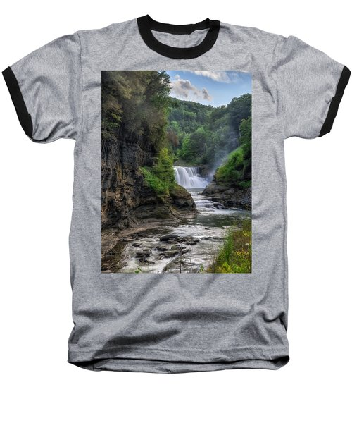 Lower Falls - Summer Baseball T-Shirt