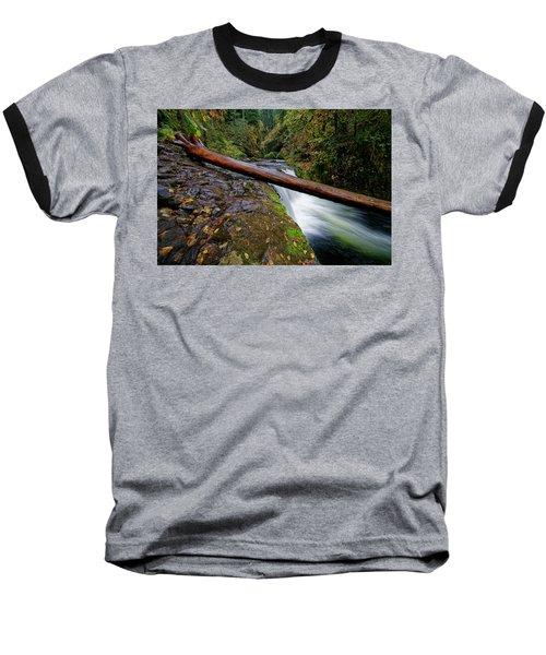 Baseball T-Shirt featuring the photograph Lower Punch Bowl Falls by Jonathan Davison