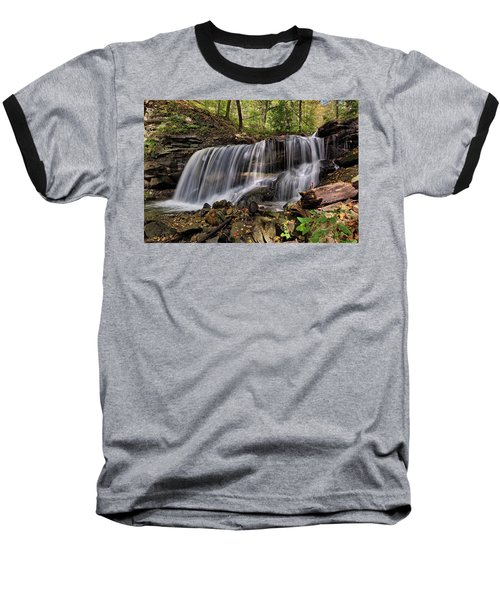 Lower Tews Falls Baseball T-Shirt