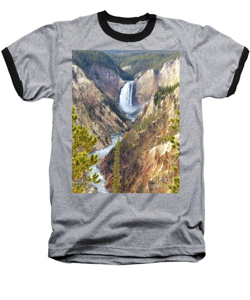 Lower Yellowstone Falls From Artist Point Baseball T-Shirt