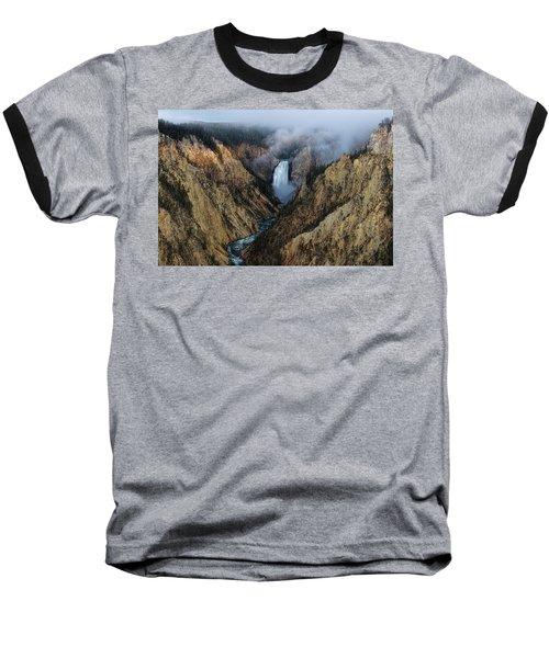 Lower Yellowstone Falls Sunrise Baseball T-Shirt