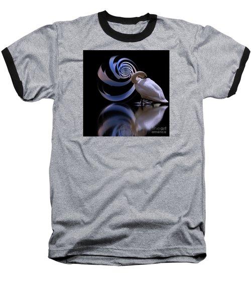 Loxodrome And Swan Baseball T-Shirt
