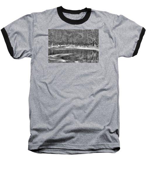 Loyalhanna Creek Bw - Wat0097 Baseball T-Shirt