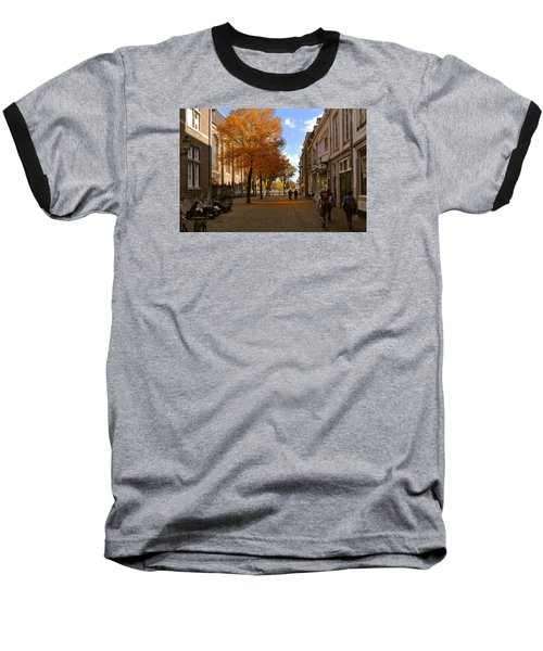 Baseball T-Shirt featuring the photograph Little Lady Mary Square In October Maastricht by Nop Briex