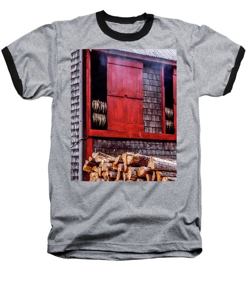 Lubec Smokehouse Baseball T-Shirt