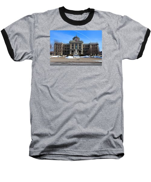 Baseball T-Shirt featuring the photograph Lucas County Courthouse I by Michiale Schneider