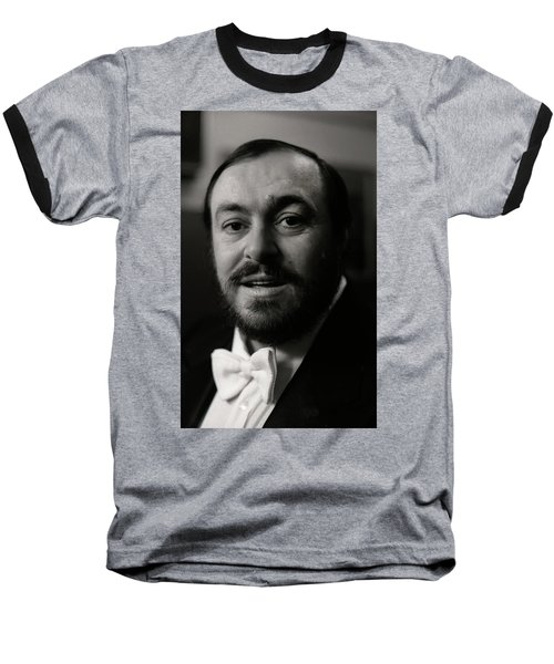 Luciano Pavarotti Baseball T-Shirt by KG Thienemann
