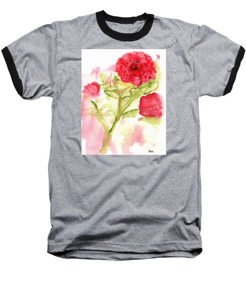 Lucky Rose Baseball T-Shirt by Sandy McIntire