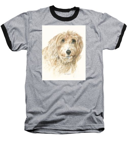 Baseball T-Shirt featuring the drawing Lucy by Meagan  Visser