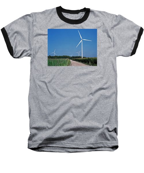 Ludington Wind Farm Baseball T-Shirt