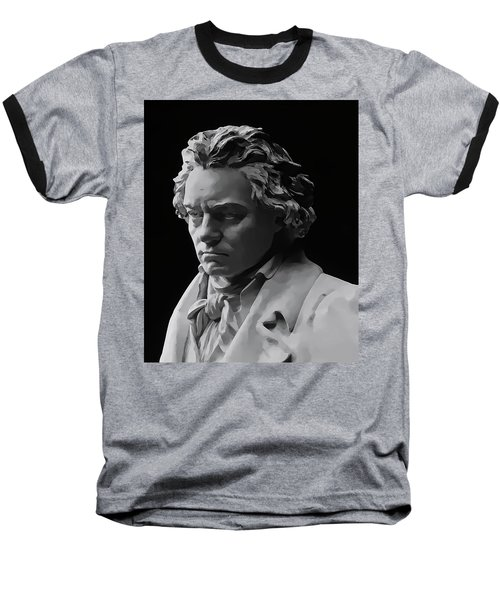 Baseball T-Shirt featuring the mixed media Ludwig Van Beethoven by Daniel Hagerman