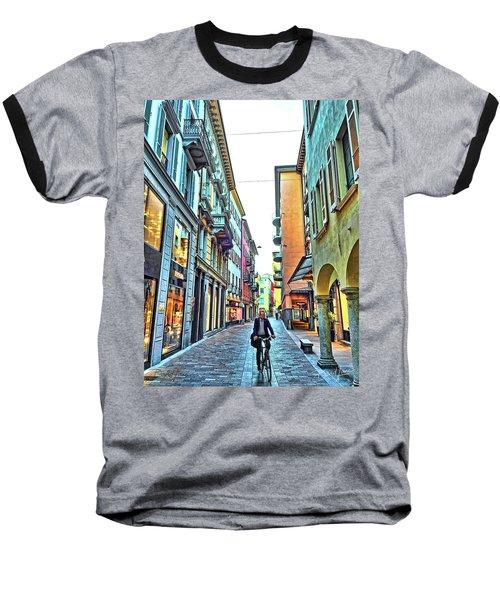 Lugano Switzerland Baseball T-Shirt