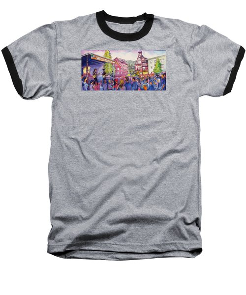 Baseball T-Shirt featuring the painting Lukas Nelson And Promise Of The Real by David Sockrider