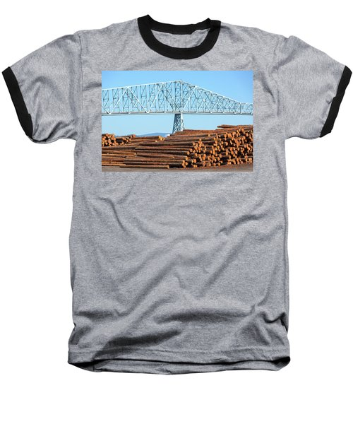 Lumber Mill In Rainier Oregon Baseball T-Shirt