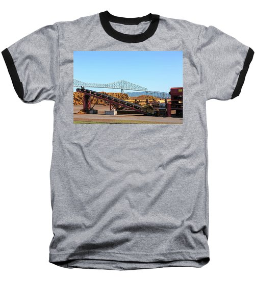 Lumber Mill Machinery In Rainier Oregon Baseball T-Shirt