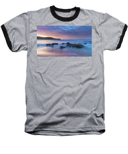 Luminescent Sunrise Seascape Baseball T-Shirt